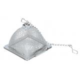 Zaparzacz stalowy z łańcuszkiem - piramidka
