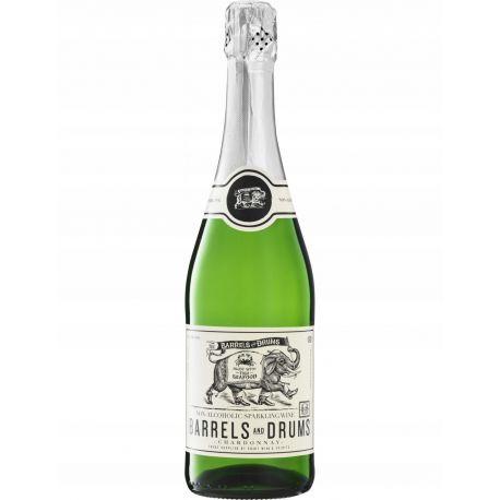 Barrels & Drums - Chardonnay Sparkling - bezalkoholowe białe wino półwytrawne - 750 ml