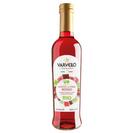 Ekologiczny ocet winny czerwony 6% - VARVELLO - 500 ml