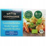Natur Compagnie - bulion warzywny o obniżonej zawartości soli BIO- kostki - 68 g