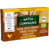 Natur Compagnie - bulion drobiowy bez dodatku cukru BIO - kostki - 88 g