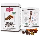 ORGANIC CINNAMON APPLE GREEN TEA - w saszetkach 50 x 1,5 g
