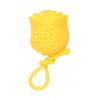 Zaparzacz silikonowy - róża żółta