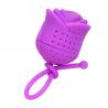 Zaparzacz silikonowy - róża fioletowa