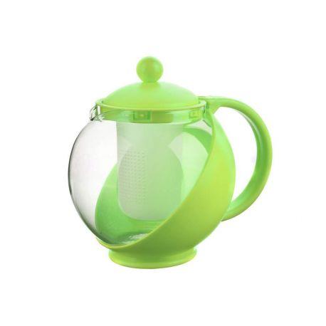 Dzbanek szklany z zaparzaczem Bulbus - 1250 ml - ZIELONY
