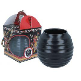 Matero ceramiczne czarne z zawieszką - 400 ml - Joao Miguel Perez
