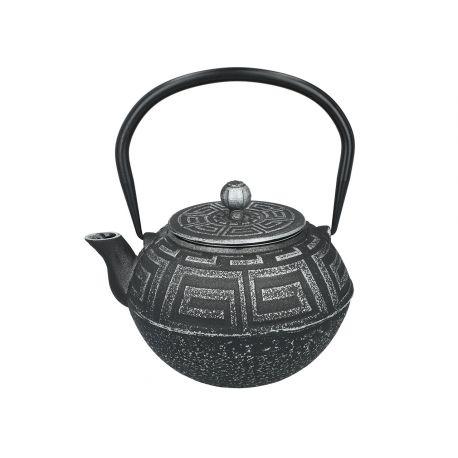 Tłoczony czajniczek żeliwny z zaparzaczem i pokrywką - 1200 ml - Santai