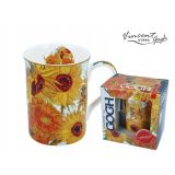 Porcelanowy kubek Classic New - Vincent van Gogh - Słoneczniki - 400 ml