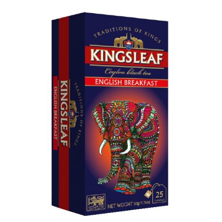 KINGSLEAF - English Breakfast - w saszetkach 25 x 2 g