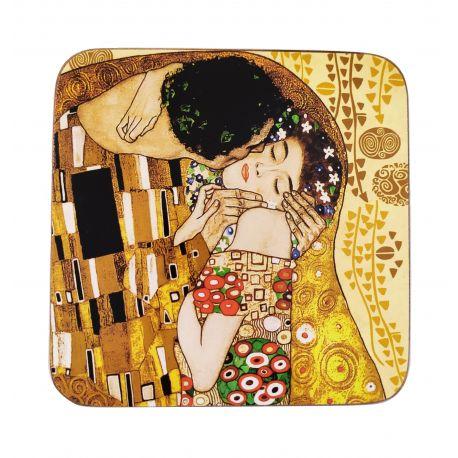 Podkładka korkowa - G. Klimt The Kiss - 10,5 x 10,5 cm
