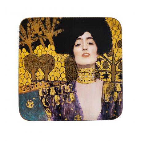 Podkładka korkowa - G. Klimt Judith - 10,5 x 10,5 cm