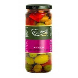 Excelencia - mix oliwek w zalewie w stylu śródziemnomorskim - 320 g