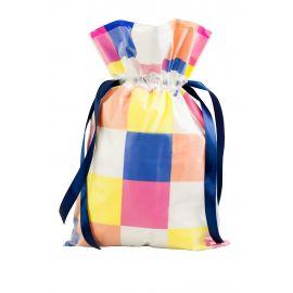 Worek prezentowy - kolorowe kwadraty - M - 30 x 45 cm