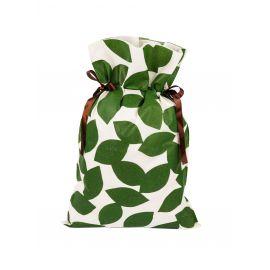 Worek prezentowy - zielone listki- 20 x 30 cm