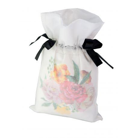 Worek prezentowy - bukiet róż - 20 x 30 cm