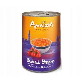 Amaizin - ekologiczna, bezglutenowa fasolka w sosie pomidorowym - 400 g