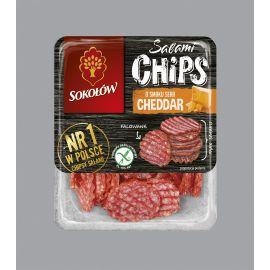 Sokołów - Salami Chips o smaku sera cheddar - 60 g