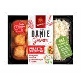 Sokołów - Danie Gotowe Premium - pulpety wieprzowe klasyczne w sosie pomidorowym z ryżem - 360 g