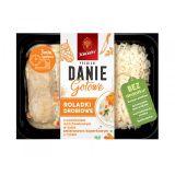 Sokołów - Danie Gotowe Premium - roladki drobiowe z nadzieniem marchewkowym w sosie śmietanowo-koperkowym z ryżem - 360 g
