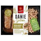 Sokołów - Danie Gotowe Premium - roladki wołowe nadziewane ogórkiem i boczkiem w sosie pieczarkowym z kaszą pęczak - 360 g