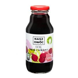 Sok - Burak Ćwikłowy bez dodatku cukru - Nasz Owoc - 330 ml