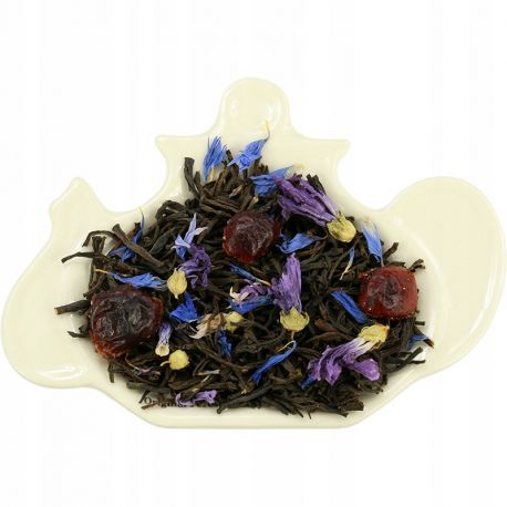 Herbata czarna z żurawiną i chabrem - 50 g