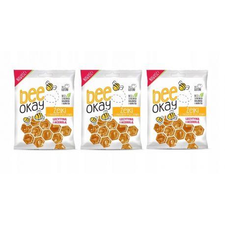 3 za 1 - Bee Okay - bezglutenowe żelki z miodem pszczelim, lecytyną i acerolą - 80 g
