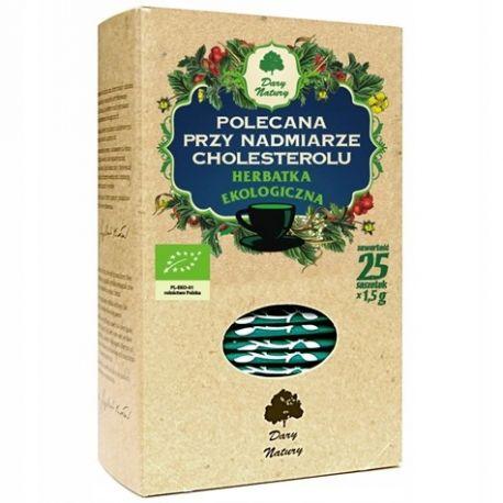 Herbatka polecana przy nadmiarze cholesterolu - (25 x 1,5 g) - Dary Natury