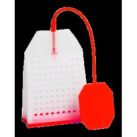 Zaparzacz silikonowy - czerwona torebka