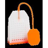 Zaparzacz silikonowy - pomarańczowa torebka