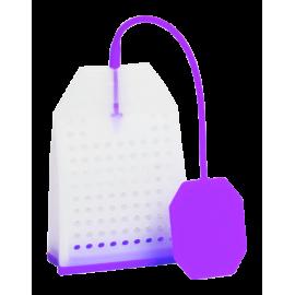 Zaparzacz silikonowy - fioletowa torebka