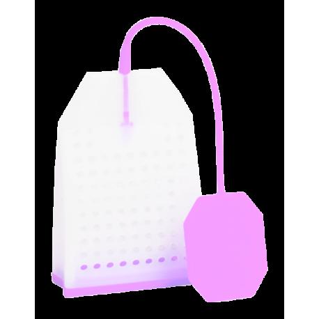 Zaparzacz silikonowy - różowa torebka