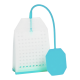 Zaparzacz silikonowy - turkusowa torebka
