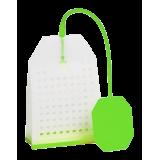 Zaparzacz silikonowy - zielona torebka