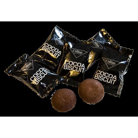 CELLINI CAFFE - Zestaw kakaowych ciasteczek do kawy 10x5g