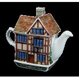 Porcelanowy Imbryk - Wiejski Domek - 500ml