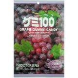 Japońskie żelki o smaku czerwonych winogron - torebka 107g