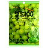 Japońskie żelki o smaku cbiałych winogron - torebka 107g