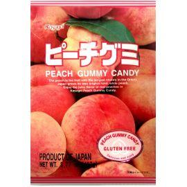 Japońskie żelki o smaku brzoskwini - torebka 107g