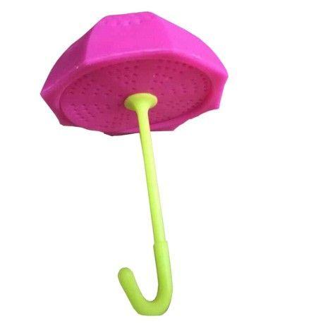 Zaparzacz do herbaty - różowa parasolka