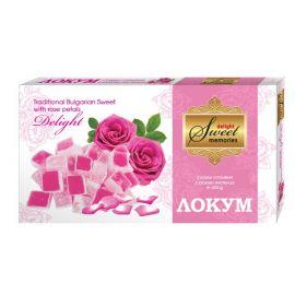 Lokum z płatkami róży - 150g