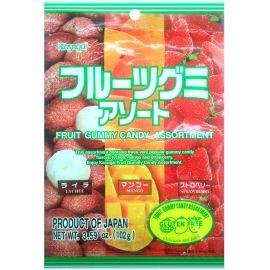 Żelki japońskie mix: liczi, mango, truskawka 102g
