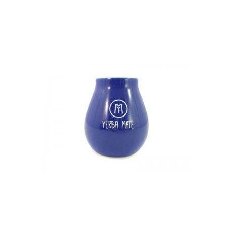 Cebador - matero ceramiczne z napisem - niebieskie