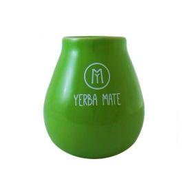 Cebador - matero ceramiczne z napisem - zielone