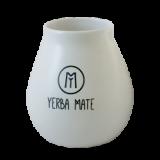 Cebador - matero ceramiczne z napisem - białe