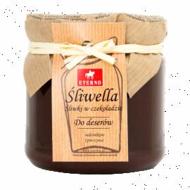 Śliwella - śliwki w czekoladzie - słoiczek