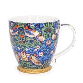 Kubek porcelanowy William Morris - Blue Strawberry Thief duży