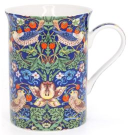 Kubek porcelanowy William Morris - Blue Strawberry Thief mały