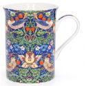 Kubek porcelanowy William Morris - Blue Strawberry Thief mały