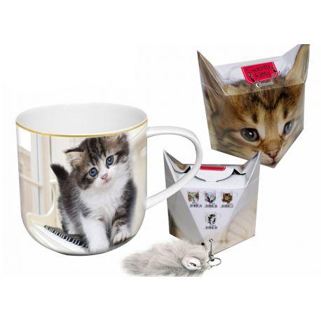 Kubek - kociak + pudełko z ogonkiem